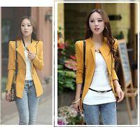 New Elegant Women Ladies Suit Blazer Casual Office Jacket Coat Slim Outwear Tops