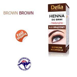 Delia Henna Eyebrow Professional Tint Dye Brown Makeup Eyeliner