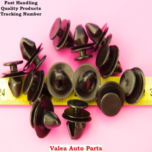 10X Floor Covering Clips Black For Renault OE# 7703077469 for Peugeot 6991.S6