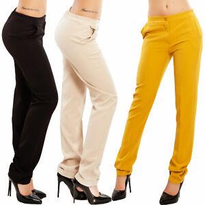 Pantaloni donna eleganti sigaretta classici risvolto ...