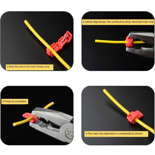 30x wire cable connectors terminals crimp quick splice 0.5mm-6mm kit tool set CH