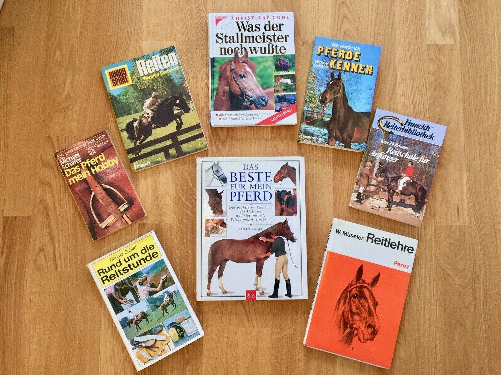 8 libros caballo jinete-müseler reitlehre colección ca 1350 páginas caballos saber