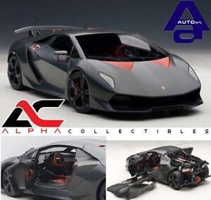 Autoart-74671-1-18-Lamborghini-Sesto-Elemento-De-Carbono-Gris-supercoche