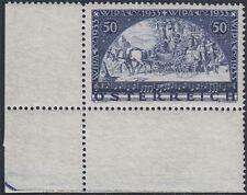 Österreich 1933 Wipa Nr. 555 Eckrandstück postfrisch Befund VÖB