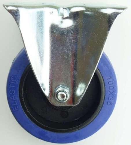 8 Stück 100 mm SL Rollen Bockrollen Laufrollen Transportrollen Blue Wheels Wheel