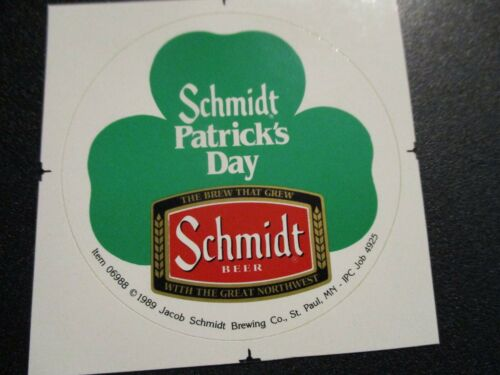 SCHMIDTS Patrick Day Shamrock pabst STICKER decal craft beer brewing brewery