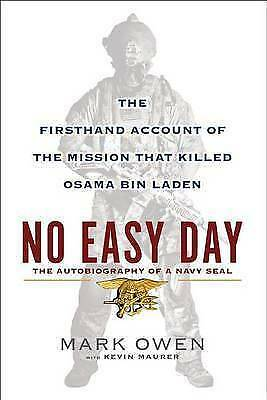 1 of 1 - NO EASY DAY - The Autobiography of a Navy SEAL, Mark Owen (HB 2012) LIKE NEW!