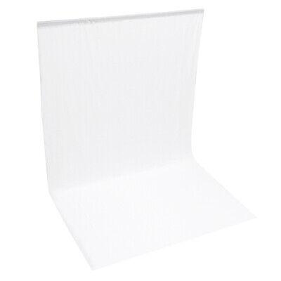 ePhotoInc 6 x 9 White Photo Studio Muslin Backdrop Photography Portrait Background 69W