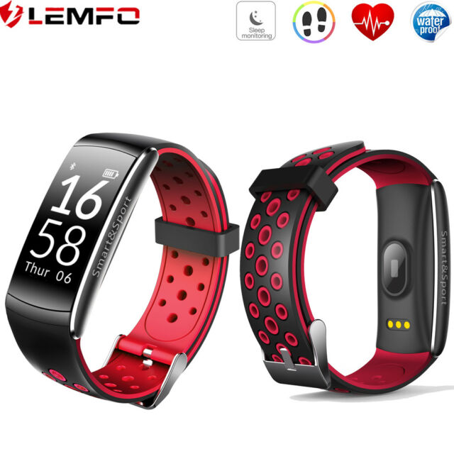 Lemfo Q8 Etanche Bluetooth Montre Intelligente Connectée Sport Pour Samsung IOS