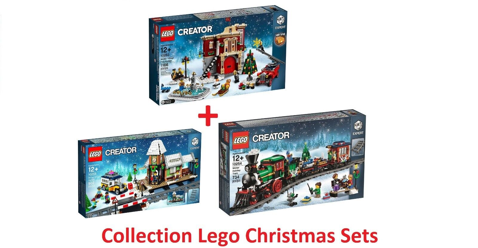 LEGO® COLLECTION CREATOR EXPERT CHRISTMAS SETS 10254 + 10259 + 10263 - NEW