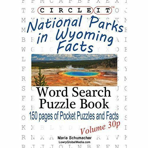 Circle It, National Parks in Wyoming Facts, Pocket Size, Word Search, Puzzle...