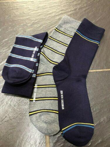 Ben Sherman Mens Calf Socks Pack of 3 New 7-11uk 40.5-46 eur