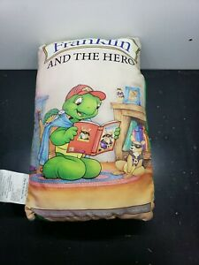 Franklin-And-The-Hero-Stuffed-Cloth-Fabric-Pages-Storybook-Pillow-14x9