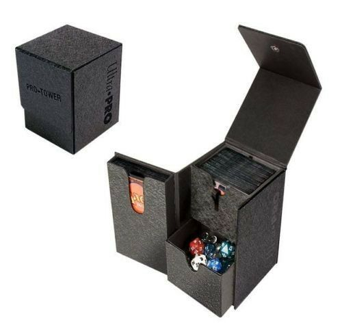 WHITE ARTIST SERIES PRO-TOWER DECK BOX ULTRA PRO FOR MTG OR POKEMON HOLDS DICE