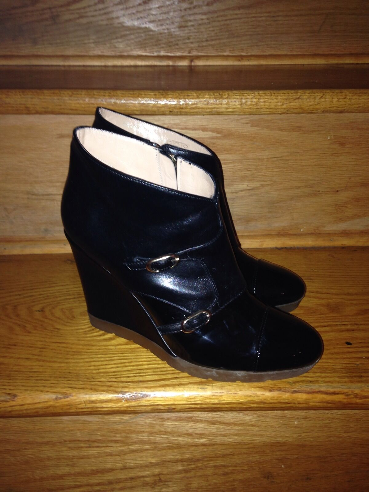 Carlo Pazzolini Wedge Platform Platform Platform Designer shoes Booties Size 8 Patent Leather 0d3f0f