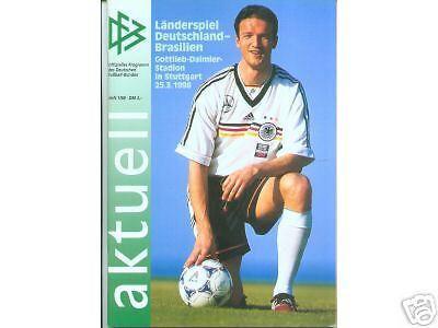 Brasilien 25.03.1998 DFB-Aktuell 1//1998  Deutschland