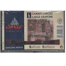 Conte LARGE Carres Crayons Set - 6 x Sanguine Medicis