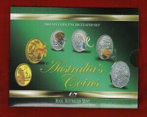 2004-Six-Coin-Uncirculated-Set-Australia-039-s-Coins-Royal-Australian-Mint