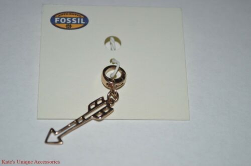 Fossil Brand ROSE GOLD-TONE Cadre ARROW Bracelet Collier Charme JF02457791