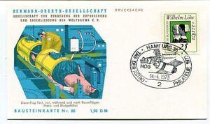 1973 Hermann Oberth Gesellschaft Weltraums Hamburg Drucksache Bausteinkarte Nr80