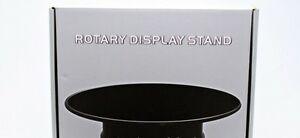 WT-99008-99010-99012-ROTARY-DISPLAY-TURNTABLES-2-speed-battery-BLACK-finish