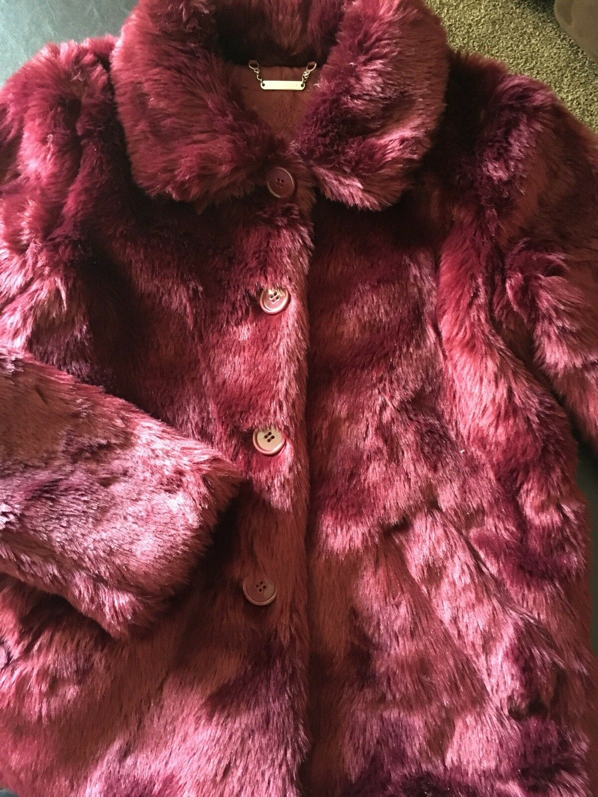 Vintage Vintage Vintage Looking Faux Fur Coat-NEW sIZE sm 337430