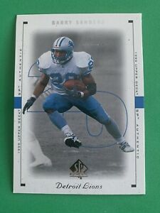BARRY-SANDERS-1999-Upper-Deck-SP-Authentic-28-Detroit-Lions