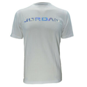 c1cf50067923 Jordan Retro XIII Holagram Men s T-Shirt Athletic White Silver ...