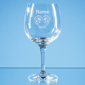 PERSONALISED BOMBAY SAPPHIRE GLASS PERSONALISED GIN GLASS ANY NAME MESSAGE GIFT