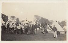 MILITARY :4th Btn CHESHIRE REGIMENT-Camp at Carnarvon 1912-Drying Clothes RP