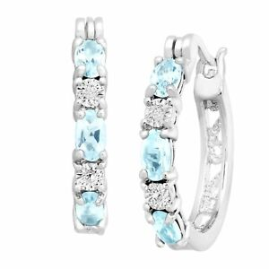1-5-8-ct-Natural-Sky-Blue-Topaz-Hoop-Earrings-w-Diamonds-in-Platinum-over-Brass