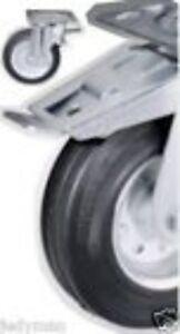 N°2 Roues Pour Chariots Disque De Fer Support De Rotation Avec Frein D.80 Ckg.51 Soulager Le Rhumatisme Et Le Froid