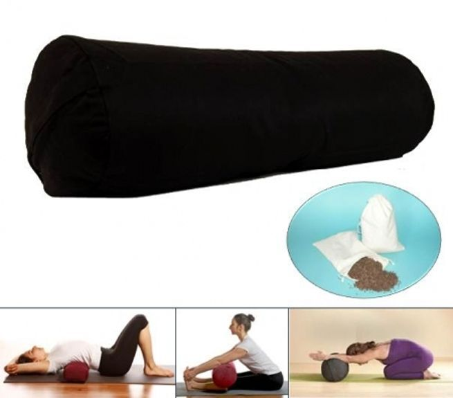Yoga Bolster Bolster Bolster Rolle Mani Bhadra schwarz 66f429