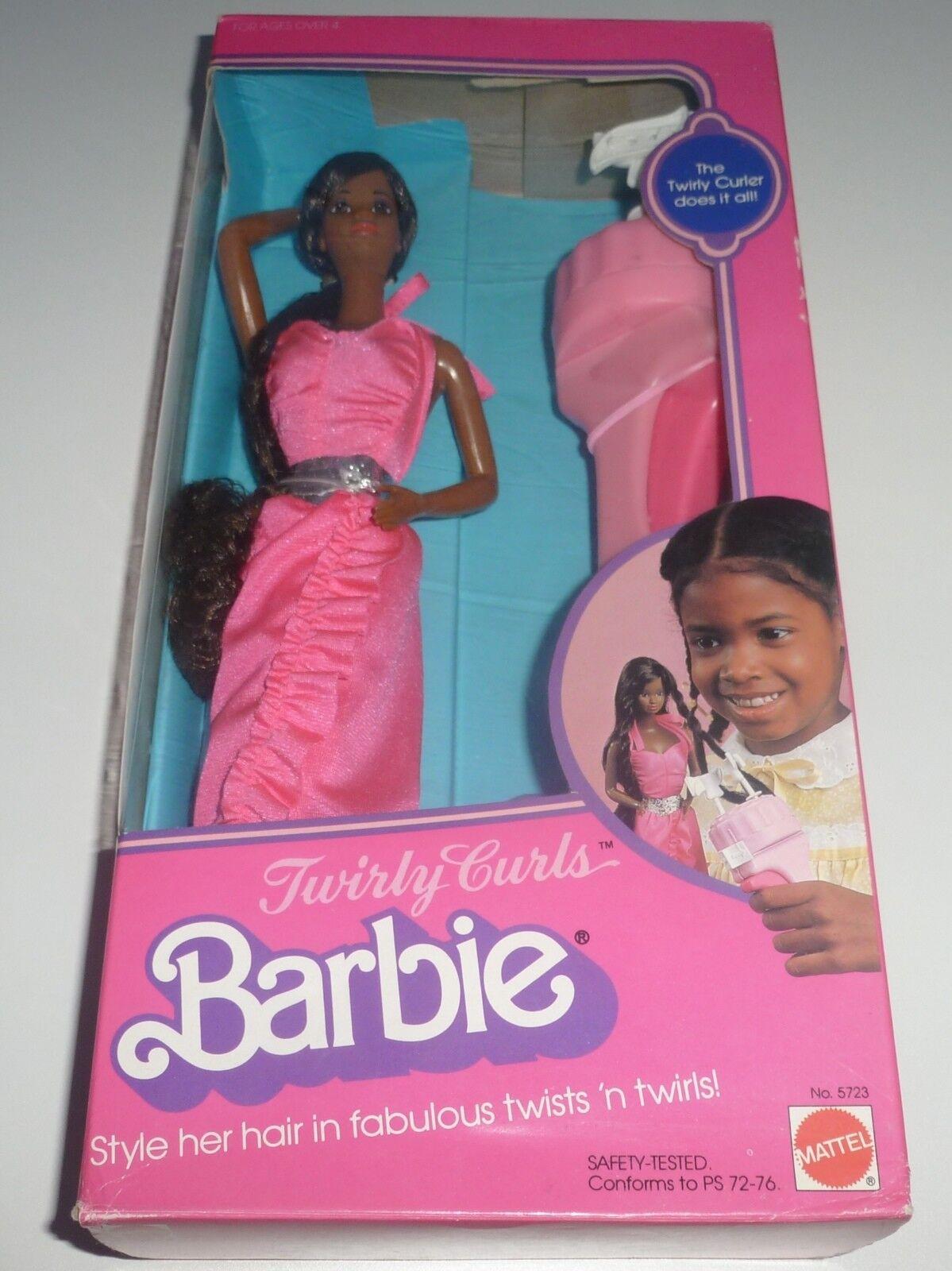 RARE Vintage 1982 tortuosa riccioli Barbie doll Nuovo di zecca con scatola.