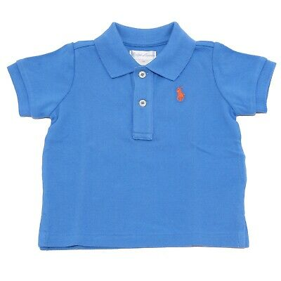 big sale 9b62c 10b0d 9223T maglia polo bimbo RALPH LAUREN blu cotone blue polo t-shirt boy kid |  eBay