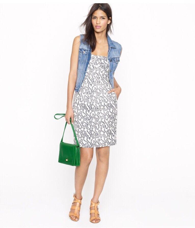 NEW J Crew Ella Dress In Rambling Rosa w Pockets Style 72115 Größe 6