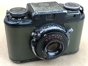 Bolsey-PH-324A-Green-Olive-U-S-Army-Camera-w-44mm-f-3-2-Wollensak-95567-Rare