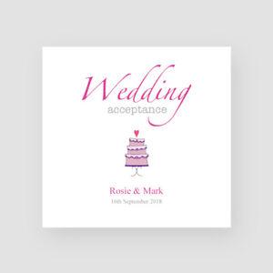 Personalised Handmade Wedding Day Regret Card RSVP Invite Response Sorry