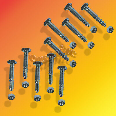 10 Pack SnowBlower Shear Pins /& Nuts For Ariens 53200500 Thread Size 1-9//16x1//4/""