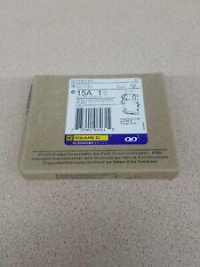 NEW Square D QO115PCAFI  15A 120V Plug-on Neutral Breaker