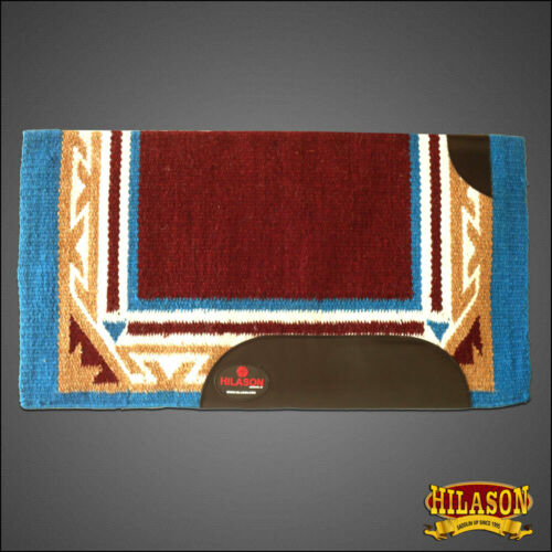 C-P220 Horse Western Saddle Blanket Wool Rodeo Brown Turquoise Purple Hilason