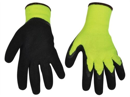 Vitrex Thermal Cold Weather Latex Grip Outdoor Gloves Tear Puncture Resistant