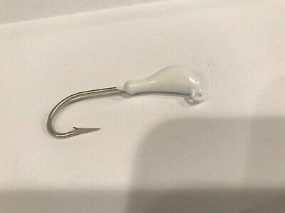 2//0 Eagle Claw Thick Wire Hook 10 of 1//4 oz Banana Style Jig Heads Unpainted