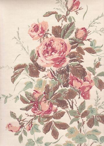 $1 SAMPLE Chantilly Rose #2 Thomas Strahan Historic Reproduction Wallpaper