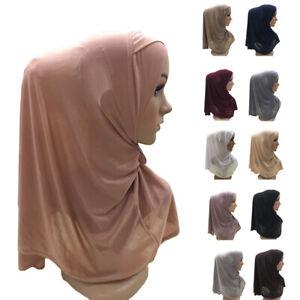 One-Piece-Muslim-Hijab-Scarf-Islamic-Headwear-Head-Cover-Cap-Amira-Shawl-Ramadan