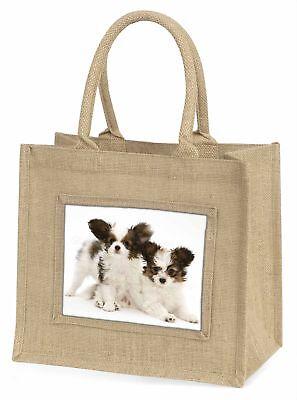 Papillon Hunde Große natürliche jute-einkaufstasche Weihnachten Geschenkidee,