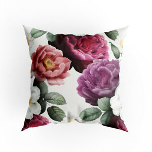 Cushion Cover 40 X 40 Cm Unique Full Print Colourful Flowers Design Vi Eu Made Ebay