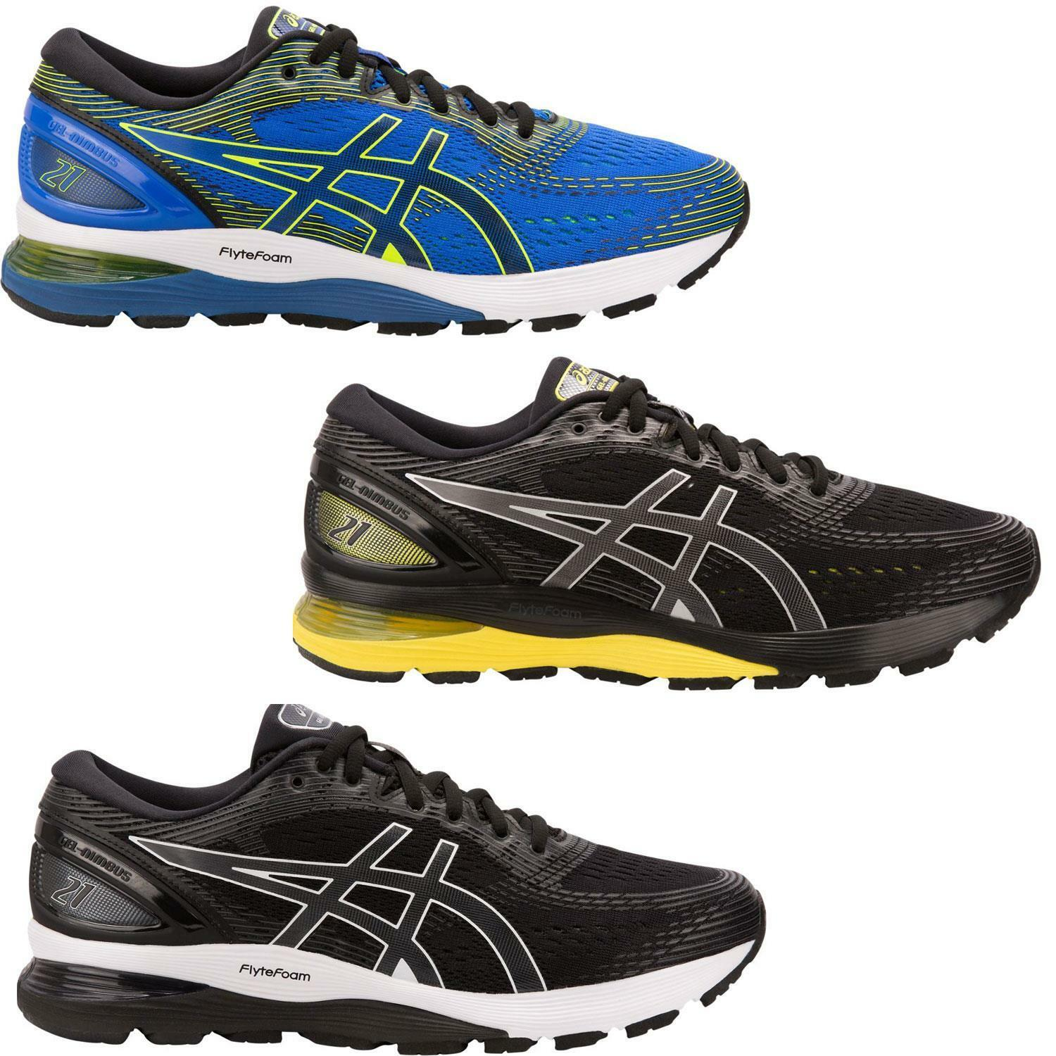 Asics Mens Gel Nimbus 21 Cushioned Breathable Running shoes