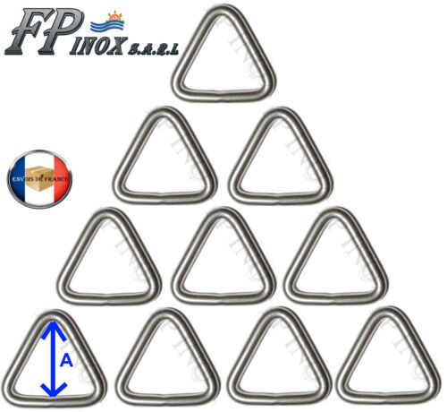 Lot de 10 Anneau Triangulaire 5 mm x 30 mm inox 316 Triangle