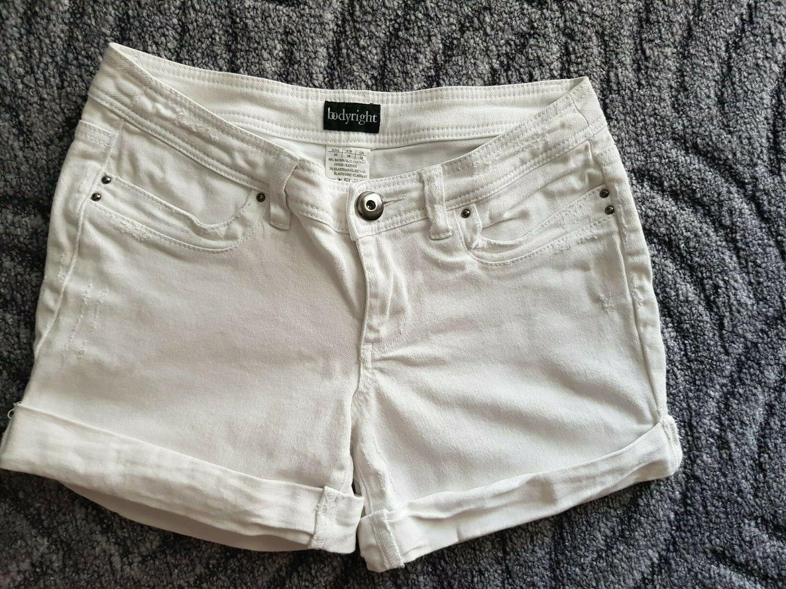 Bodyright kurze Shorts Weiß Größe 36